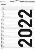 Familiekalender Black & White 2 kolonner 0665 10