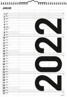 Familiekalender Black & White 3 kolonner 0665 20