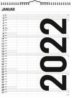 Familiekalender Black & White 5 kolonner 0665 50
