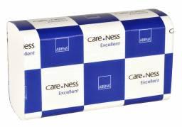 Papirhåndklæde Care-Ness 2-lags hvid 4000ark/kar