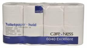 Toiletpapir Care-Ness 2-lags hvid 9,80cmx33,75m 64rul/kar