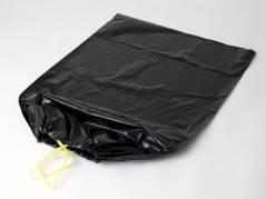 Affaldssække m/snoretræk plastik sort 700x1100mm Luksus 10stk/rul