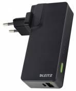 Oplader Leitz USB væg+Power Bank 3000mAh sort