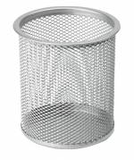 Penneholder tråd metal sølv Ø90mm H100mm