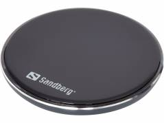 Oplader Sandberg Wireless Qi alu dock 10W sort