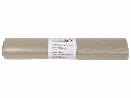 Affaldssække plastik klar 700x1100mm Luksus 10stk/rul