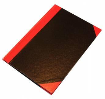 Kinabog linjeret A5 Q-Line sort/rød 80 blade 70g
