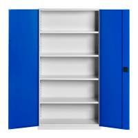 Opbevaringsskab i stål - SMV 1990x1000x435mm blå dør
