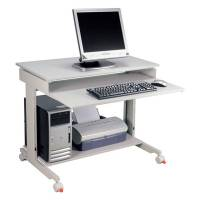 Computerbord Click 900x500mm Grå