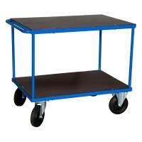 Rullebord Blå 2 hylder 870x1000x700 mm