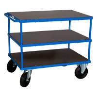 Rullebord Blå 3 hylder 870x1000x700 mm