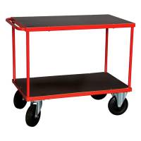 Rullebord Rød 2 hylder 870x1000x600 mm