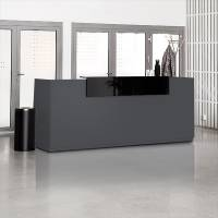 Reception Libra Antracit 2600mm Fast Bordplade