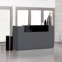 Reception Libra Antracit 1730mm Fast Bordplade
